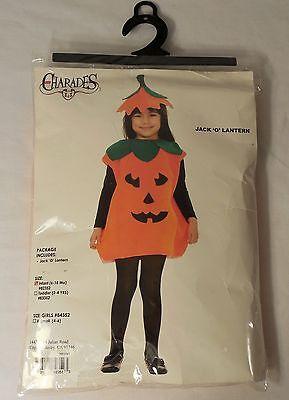Jack O Lantern Costume (Charades JACK O' LANTERN Pumpkin Costume, Infant 6-18 Month w/Headpiece -)