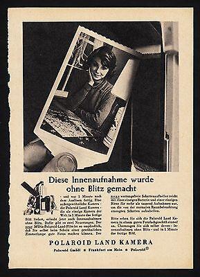 3w1700/ Alte Reklame von 1960 - POLAROID Land Kamera