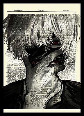 Kaneki Tokyo Ghoul Anime Dictionary Art Print Poster Picture Book Japan Manga