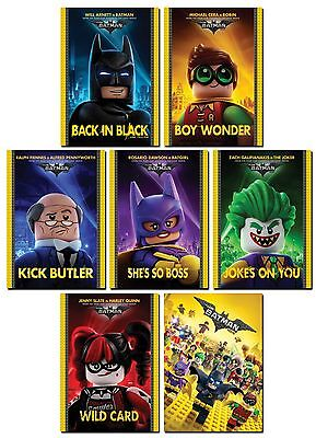 THE LEGO BATMAN Movie 7 Card Promo Set - Joker Harley Quinn Robin Batgirl Alfred