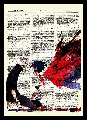 Kaneki Touka Tokyo Ghoul Anime Dictionary Art Print Poster Picture Book Manga