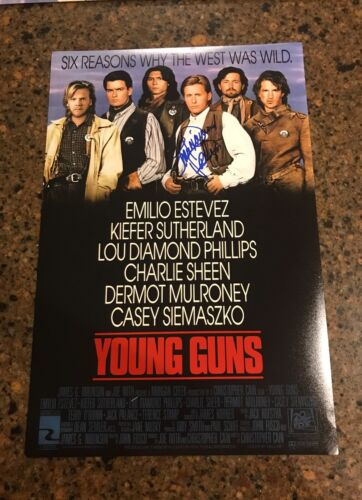 * LOU DIAMOND PHILLIPS * signed 12x18 photo poster * YOUNG GUNS * 1