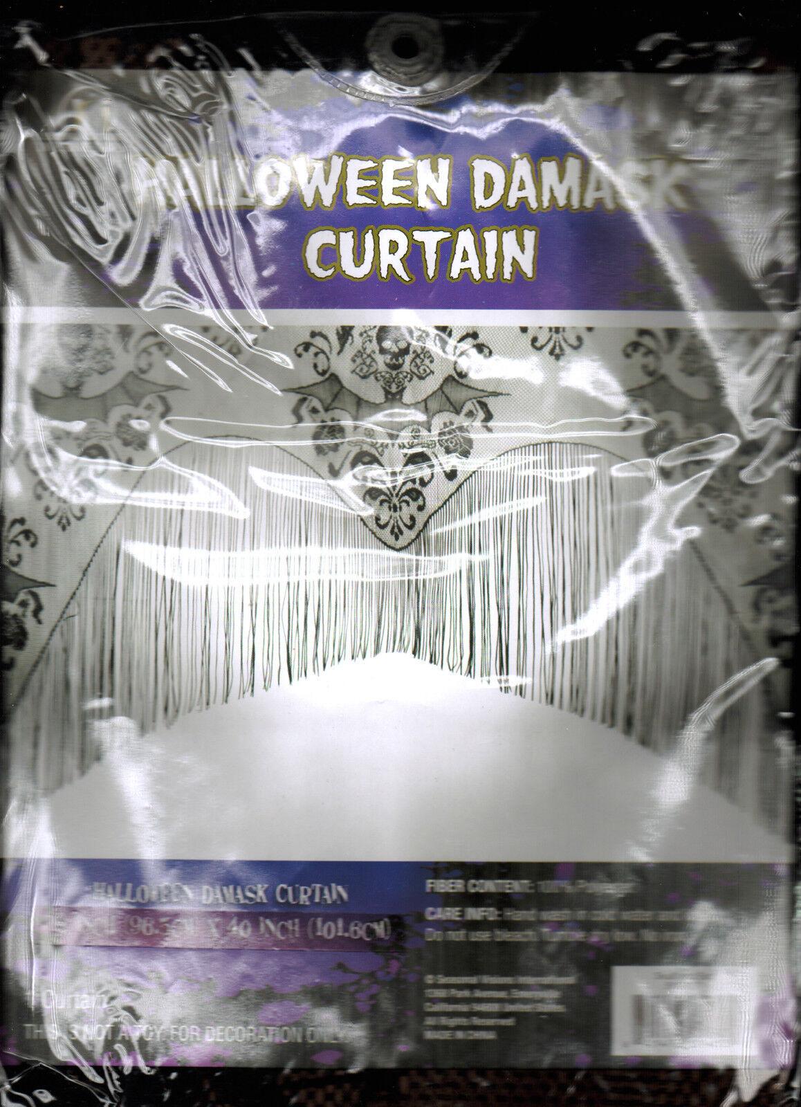 gothic black lace skull bat curtain valance topper shawl hal
