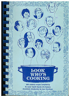 *ST LOUIS MO 1974 LOOK WHO'S COOKING COOK BOOK SOUTH COUNTY LIFE SEEKERS (St Louis Mo South County)