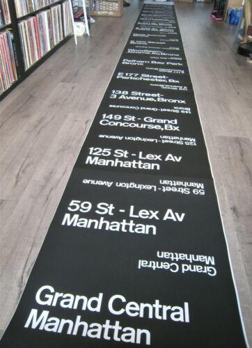 Vintage New York Subway R-17 Train Car Side Destination Roll Sign IRT