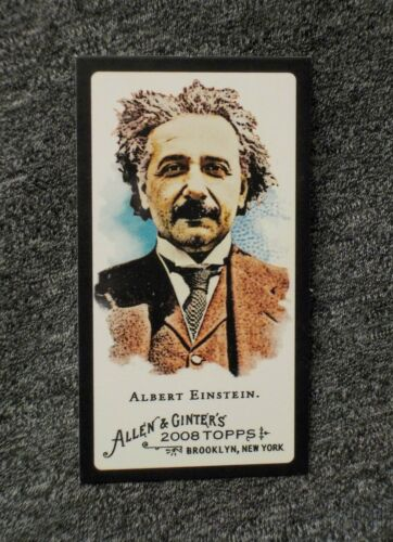 ScARcE ! Albert Einstein #19 mini BLACK BORDER 2008 Topps Allen & Ginter