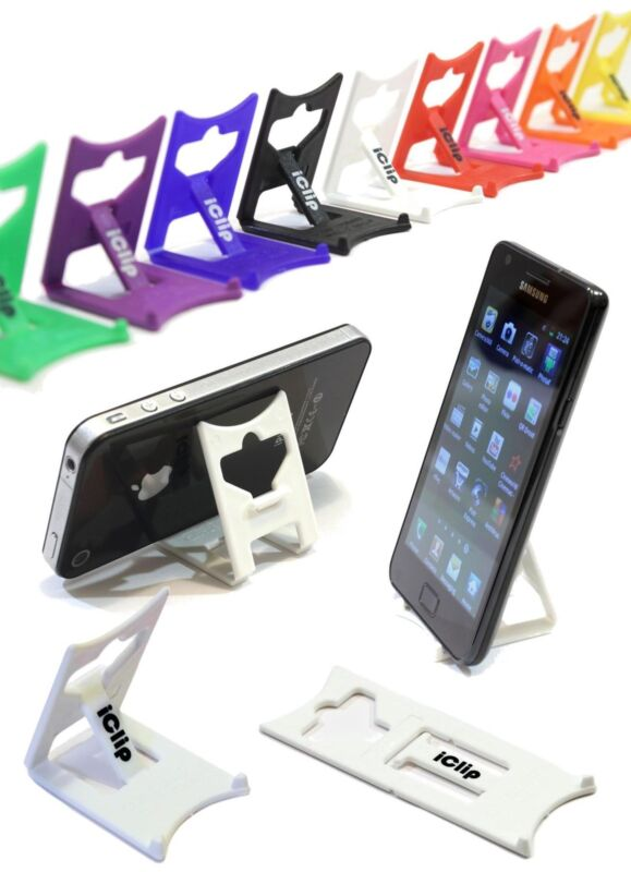 Mobile Smart Phone, iPod, MP3 Support : WHITE iClip Folding Travel Desk Stand