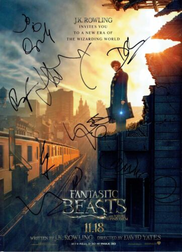 Fantastic Beasts And Where To Find Them CAST SIGNED 16X12 Photo AFTAL (3)
