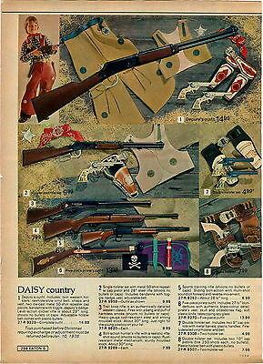 1975 ADVERTISEMENT Toy Gun Rifle Daisy Trail Boss Pirate Holster Blunderbuss
