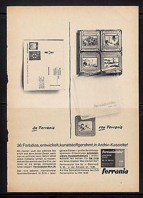 3w185/ Alte Reklame - von 1965 - Bildverarbeitungsdienst FERRANIA