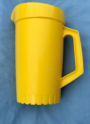 Vintage Tupperware 874-14 Pitcher 1 Qt Yellow