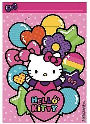 Hello Kitty Goody Bags (Rainbow Hello Kitty Loot Treat Gift Bags Birthday Party Favor 8)