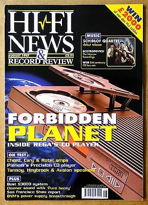 Hi Fi News Magazine 8 1997 Chord Cary Tube Amplifier Tannoy Speaker Van Den Hul
