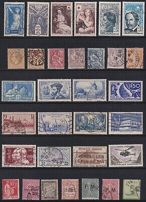 France Assortment Of Better Values 32 Stamps SCV 265.95 - $45.00