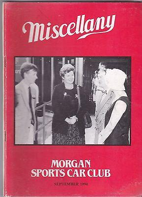 MISCELLANY MORGAN SPORTS CAR CLUB MAGAZINE SEPTEMBER 1994 POST FREE