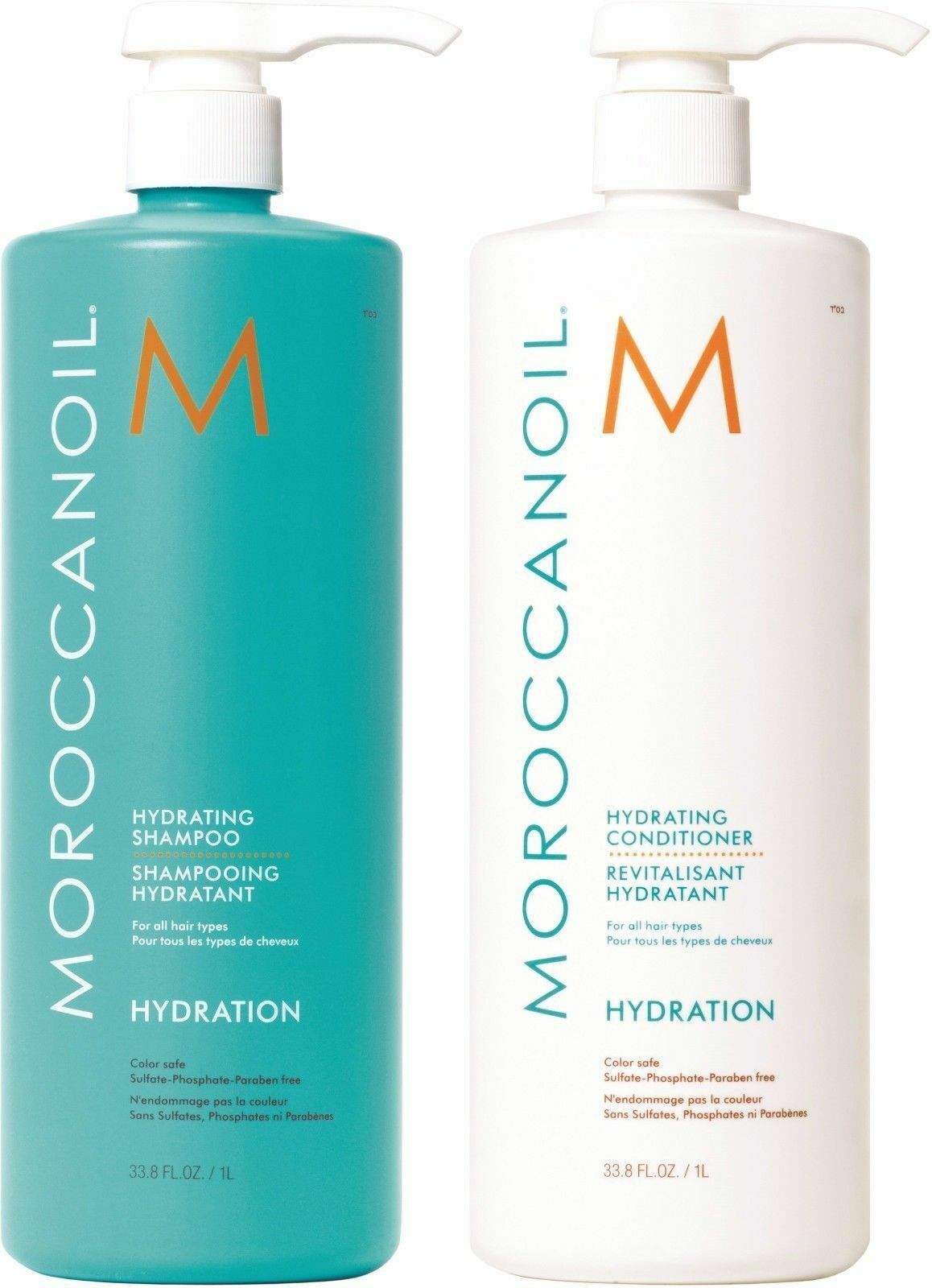 Moroccanoil Hydrating Shampoo And Conditioner 33.8 oz  1L Du