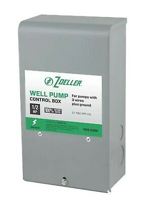 Zoeller 1010-2336 12 Hp Submersibles Well Pump Control Box