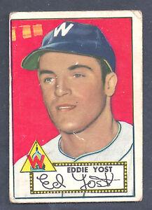 1952-Topps-123-Eddie-Yost-Third-Base-Washington-Senators-Good-Plus