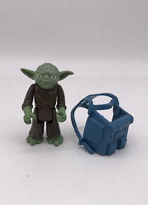 Vintage Star Wars Yoda 1980 HK Action Figure & Dagobah Backpack Pac-Man Eyes