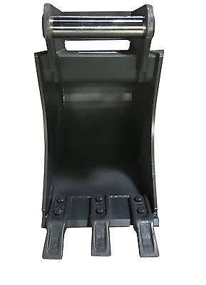 Baggerschaufel Tieflöffel 300mm bis 2,2t MS01 Aufnahme inkl 3 Zähnen /geschraubt