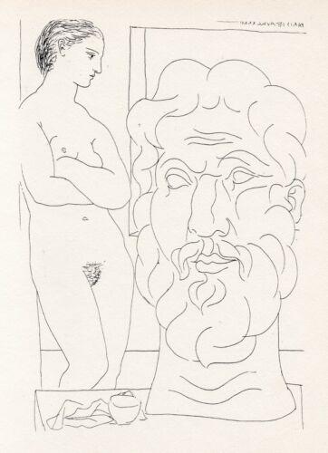 Pablo Picasso, Marie-Thérèse Looking at a Sculpted Self Portrait, Vollard Suite