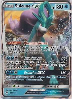 Pokemon TCG SM Lost Thunder 60/214 Suicune GX Holofoil Rare (Holofoil Rare Single Card)