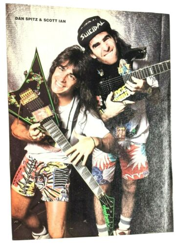 ANTHRAX / SCOTT IAN / DAN SPITZ / MAGAZINE FULL PAGE PINUP POSTER CLIPPING