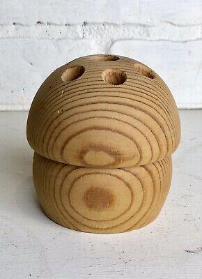 AARIKKA FINLAND Modern Wood Sculpture Mushroom Pencil Pen Paintbrush Holder