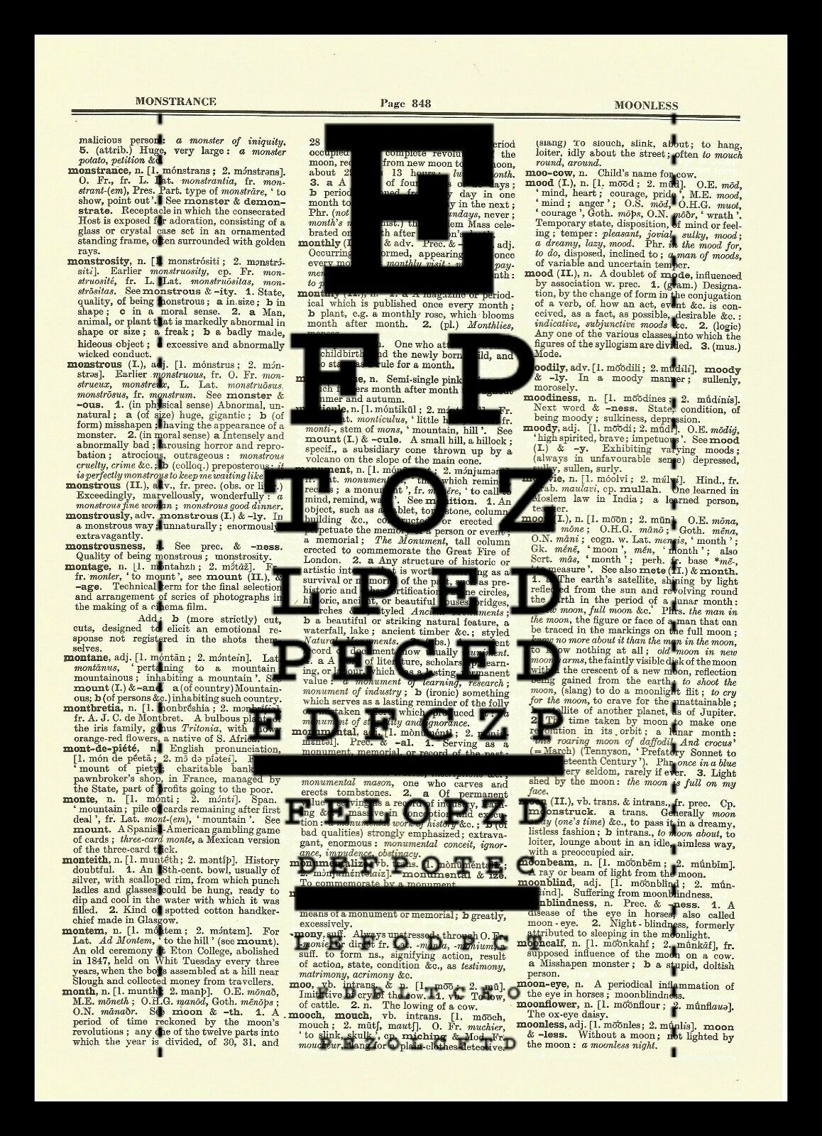 Eye Chart Dictionary Art Print Poster Vision Science Ophthalmologist