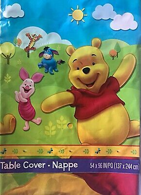 h & Friends~Plastic Party Table Cover Nappe Party Supplies (Pooh Party Supplies)