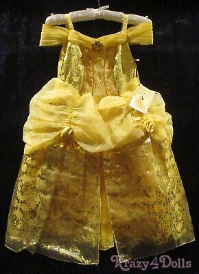 Disney Designer Fairytale Belle Deluxe Girls Princess Costume Dress size 4 New!