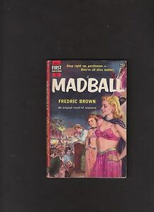 VINTAGE-CRIME-THRILLER-FRED-BROWN-MADBALL-IST-ED-NICE-COPY-GGA