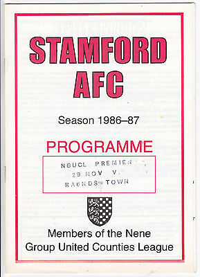 STAMFORD V RAUNDS TOWN UNITED COUNTIES LGE 29/11/86