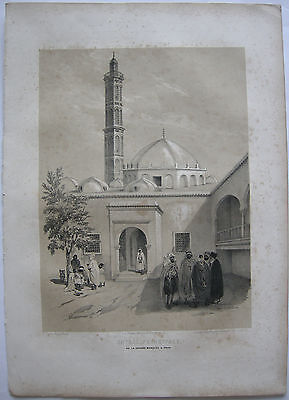 Algerien Algerie Oran Grande Mosquée Lithographie Bayot 1840 Nord Afrika