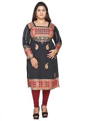 Plus Sizes    Uk Stock   Women Indian Kurti Tunic Kurta Shirt Dress Eplus106a