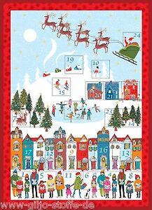 makower wonderland advent panel adventskalender stoff weihnachtsstoffe patchwork ebay. Black Bedroom Furniture Sets. Home Design Ideas