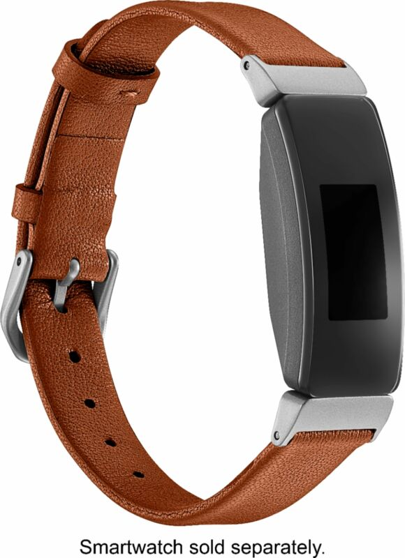 Platinum- Horween Leather Band for Fitbit Inspire and Inspire HR - Copper