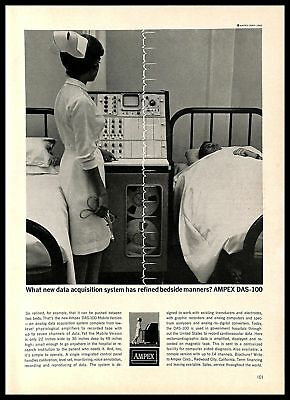 1963 Ampex DAS-100 Mobile Version Vintage PRINT AD Data Acquisition System B&W ()