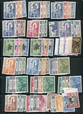 British Commonwealth/Empire KGVI 1949 UPU issue complete (310 stamps) MLH