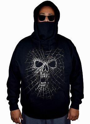 New Men's Black Widow Mask Hoodie Sweater Spider Skull Halloween Scary Skeleton](Scary Black Widow Spider)