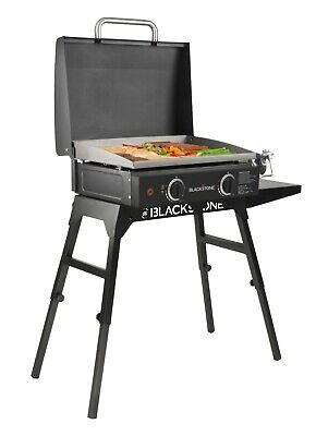 Table Top Griddle Grill 22 In. Portable Gas Hood Legs Bulk Hose Outdoor Cooking - Outdoor Grill Top