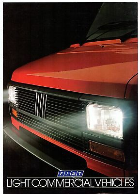 Fiat Light Commercials 1984-85 UK Market Foldout Sales Brochure Fiorino Ducato