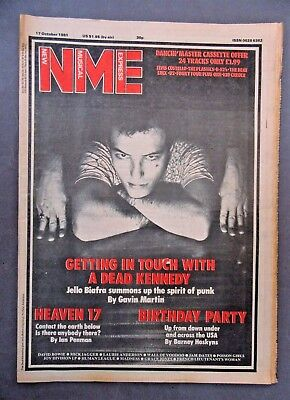 JELLO BIAFRA Dead Kennedys Oct 1981 NME NEW MUSICAL EXPRESS Newspaper magazine