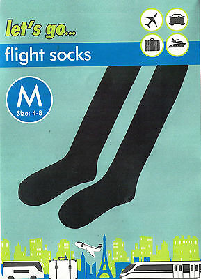 Ladies Flight Socks Safe Travel DVT Compression Maternity Knee Highs Sizes 4-8
