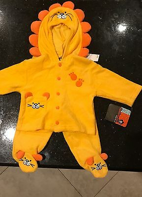 Brand New With Tags Lion Cat Baby Costume Outfit PJ's Halloween 6 Months