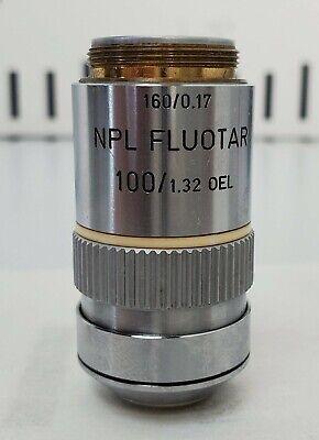 Leitz Microscope Objective Npl Fluotar 100x1.32 Oel 1600.17 - Free Shipping