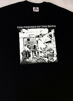 Vintage - THE FEEDING OF THE 5000 British Punk Band T -  Shirt - XL unworn