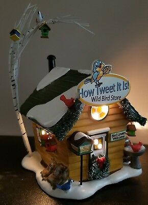 "Dept 56 Snow Village ""How Tweet It Is Wild Bird Store"" #4036569 New Retired"