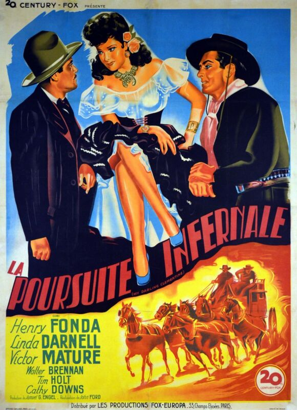 MY DARLING CLEMENTINE - ORIGINAL FRENCH  POSTER - VERY RARE
