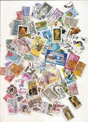 lot de 100 timbres france obliteres tous differents